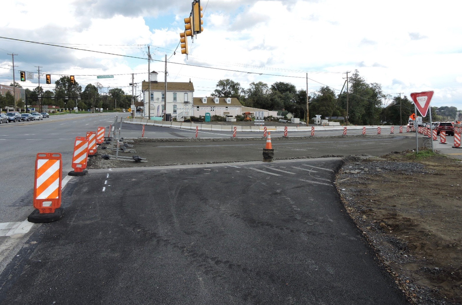 New intersection at U.S. 322 (Conchester Highway) and U.S. 1 (Baltimore Pike)