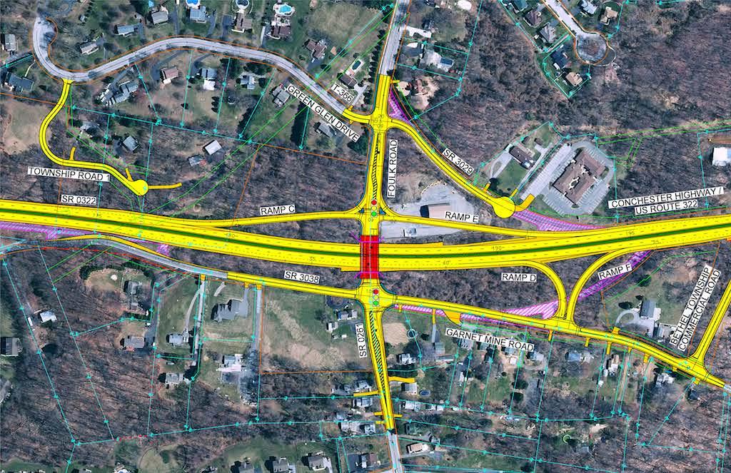 Foulk Road Interchange improvments