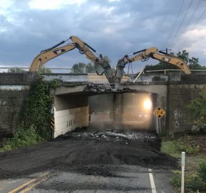 Bridge demolition at Smithbridge Road